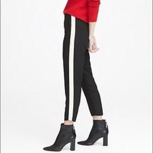 BANANA REPUBLIC Hayden Side Stripe Pant SZ S Black